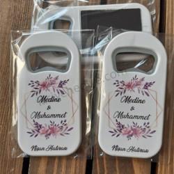Düğün Nişan Nikah Dikdörtgen Kapak Açacak Magnet