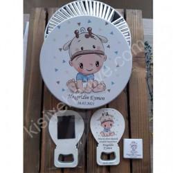 Zürafa Şapkalı Çocuk Model Çikolata Ve Kutusu