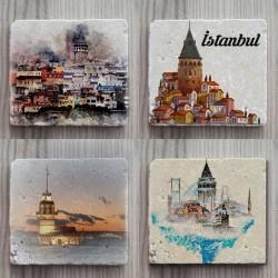 Doğal Taş Bardak Altlığı İstanbul