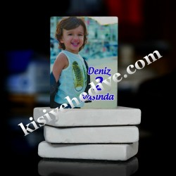 Çocuk Resim Doğal Taş Magnet