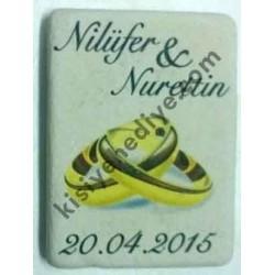 Nişan için Doğal Taş Magnet