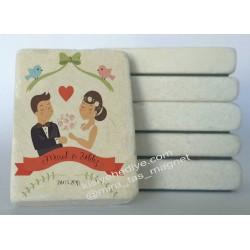Nikah Düğün Doğal Taş Magnet