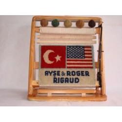 Ülke Bayrakları Minyatür Halı 28x33 Ebat