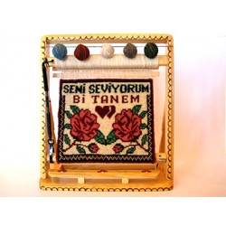 Sevgili için Minyatür Halı 28x33 Ebat
