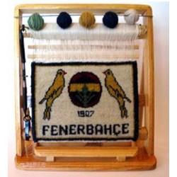 Fenerbahçe Taraftar Minyatür Halı 28x33 Ebat